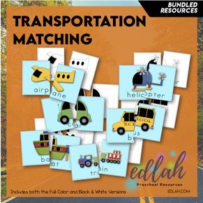 Transportation Matching & Spelling - Bundle