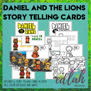 Daniel and the Lions Den - Story Telling Cards