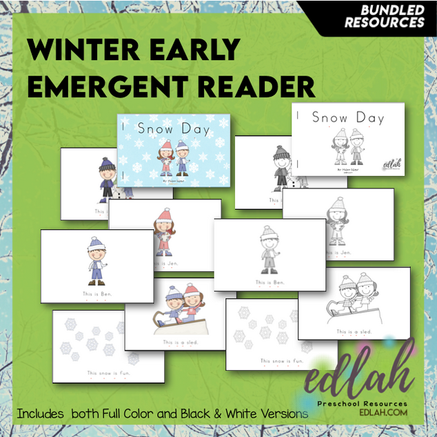 Winter/Snow Early Emergent Reader - BUNDLE