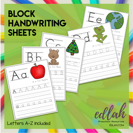 BLOCK Lettering Practice A-Z - Full Color Version