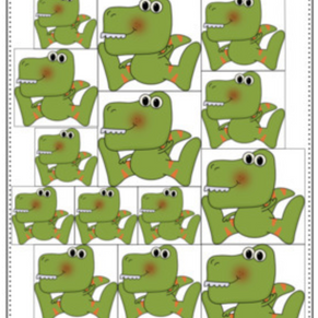 Dinosaur Size Sorting Cards