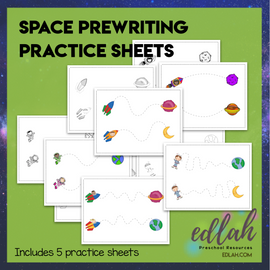 Space Prewriting Practice Sheets