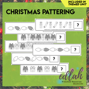 Christmas Patterning Cards - Grayscale Version