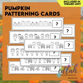 Pumpkin Patterning Cards - Black & White Version