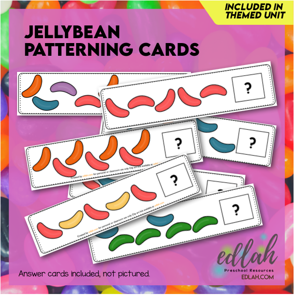 Jellybean Patterning Cards - Full Color Version