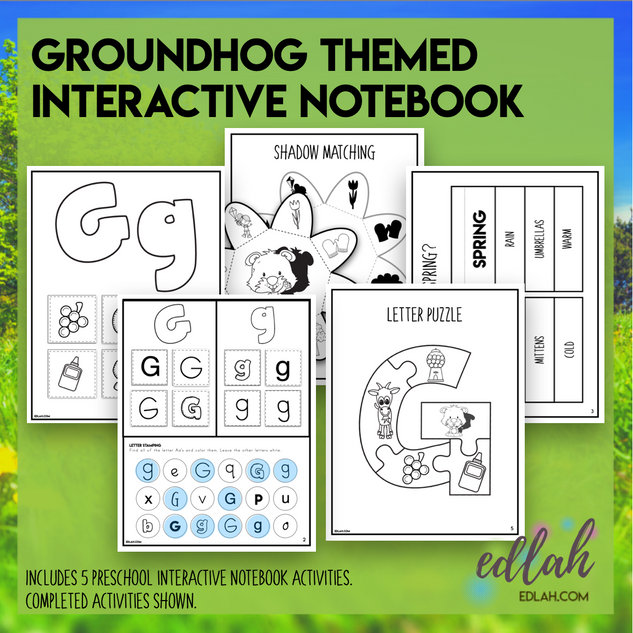 G is for Groundhogs Themed Interactive Notebook
