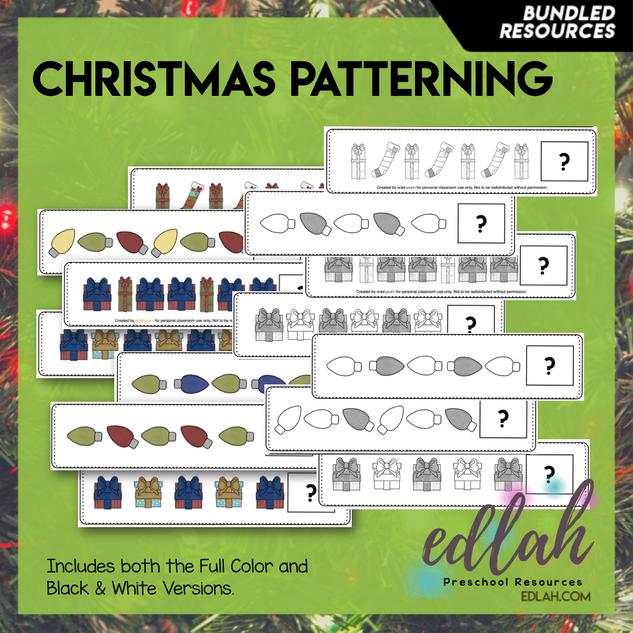 Christmas Patterning Cards - BUNDLED