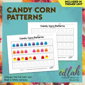 Candy Corn Patterning Sheets