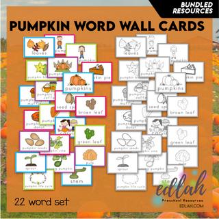 Pumpkin Vocabulary Word Wall Cards (set of 22) - BUNDLE-Version#1