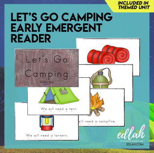 Let's Go Camping Early Emergent Reader - Full Color Version