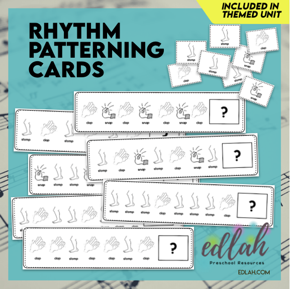 Rhythm Patterning Cards - Black & White Version