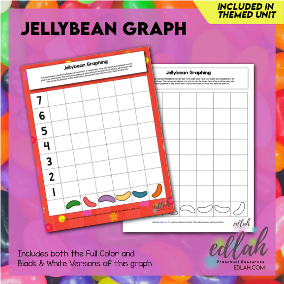 Jellybean Graphing - Full Color and Black & White Versions