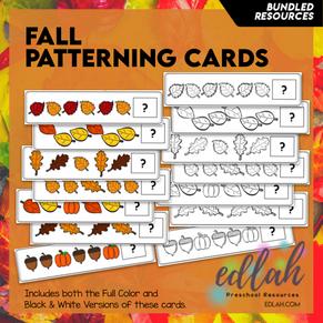 Fall Patterning Cards - BUNDLED
