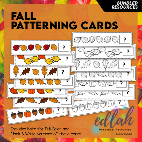 Fall Patterning Cards - BUNDLED