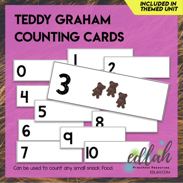 Teddy Cracker Counting Cards (0-10)