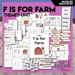 F is for Farm Themed Unit-Preschool Lesson Plans