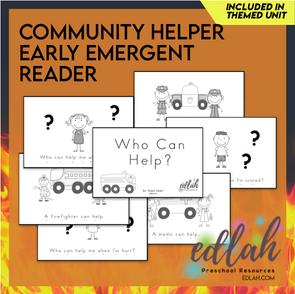 Community Helper Early Emergent Reader - Black & White Version