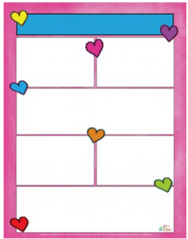 Valentine Hearts Newsletter for Word_Generation 1