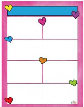 Valentine Hearts Newsletter for Word_Generation 1