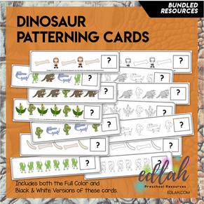 Dinosaur Patterning Cards - BUNDLE