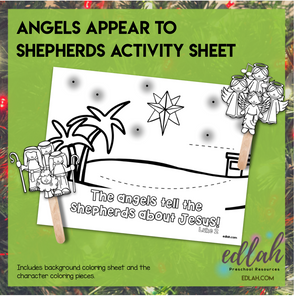 Angels and Shepherds Popsicle Stick Activity Sheet