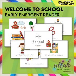 Welcome to School Early Emergent Reader - Full Color Version