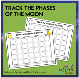 Track the Phases of the Moon Activity Sheet