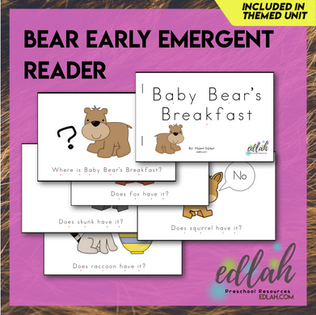 B is for Bears Early Emergent Reader - Full Color Version