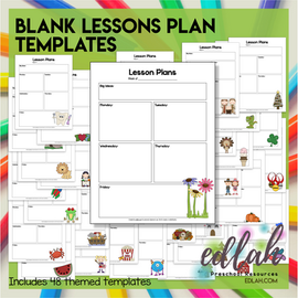 Blank Lesson Plan Templates- With Pictures - Distance Learning