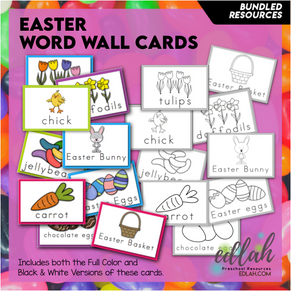 Easter Bunny Vocabulary Word Wall Cards (set of 9) BUNDLE-Version#1