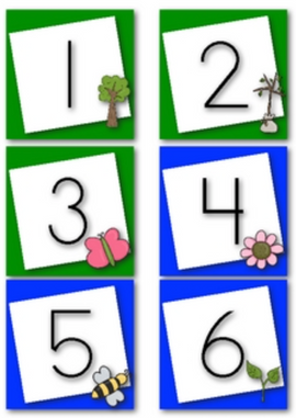 April Calendar Numbers (Earth Day & Easter Themed)