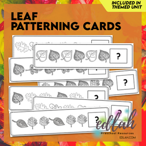 Leaf Patterning Cards - Grayscale Version