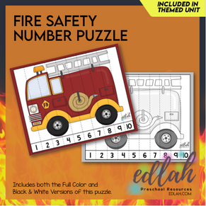 Fire Truck Counting Puzzle - Distance Learning
