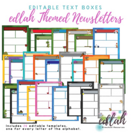 Edlah Themed Newsletter Template Mega Pack for WORD_Generation 1