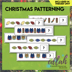 Christmas Patterning Cards - Full Color Version
