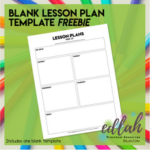 Basic Lesson Plan Template- No Pictures - Distance Learning