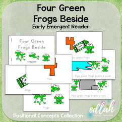 Four Green Frogs Early Emergent Reader (Beside) - Full Color Version