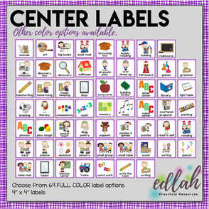 Center Labels - Purple