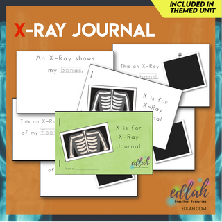 X-Ray Printable Journal - Full Color and Black & White covers