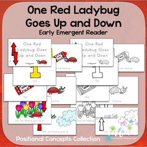 One Red Ladybug Early Emergent Reader (Up & Down) - BUNDLE