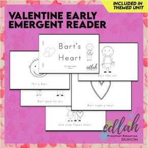 Valentine's Day Early Emergent Reader - Black & White Version