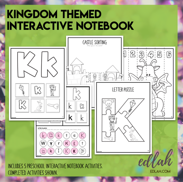 K is for Kingdom Themed Interactive Notebook