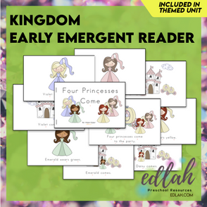Kings and Queens Early Emergent Reader - Full Color Version
