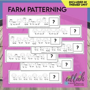 Farm Patterning Cards - Black & White Version