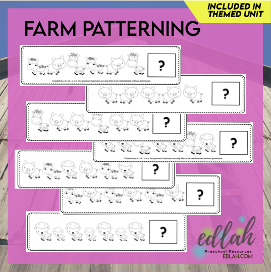 Farm Patterning Cards - Black & White Version