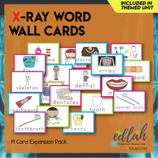 Dental Health Vocabulary Word Wall Cards (set of 19) Full Color -Version#1