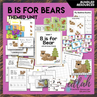 B is for Bears Themed Unit-Preschool Lesson Plans