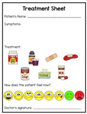 Doctor Center: Treatment Sheet Activity