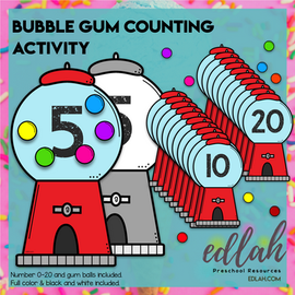 Bubble Gum Counting Activity