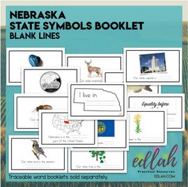 Nebraska State Symbols Booklet- Blank Lines